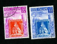 Italy Stamps # 568-9 VF Used Catalog Value $38.50