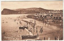 TEIGNMOUTH - From The Pier - Bathing Machines / Boats etc - 1914 used postcard