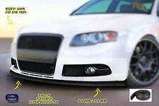 Spoiler paraurti Audi A3 in gomma protezione tuning universale nero per auto kit
