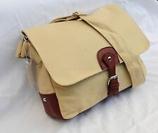 "Beige  Vintage Canvas Laptop Notebook 13"" Multi Use Messenger Bag Case Shoulder"