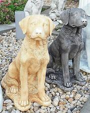 Gartenfiguren, Hund, 49 cm, Steinguss, Hunde, Tierfiguren, Statuen, Gartendeko