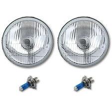 "5-3/4"" Stock H4 Halogen Light Bulb Headlight Super White 55/60W Headlamp Pair"