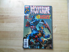 1998 WOLVERINE # 124 CAPTAIN AMERICA SIGNED BY BILL SIENKIEWICZ ART, WITH POA