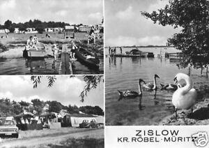 AK, Zieslow Kr. Röbel, drei Abb., u.a. Campingpl., 1981