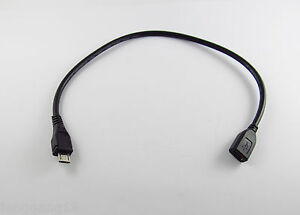 Micro USB 5 Pin B Male To Micro USB Female M/F Extension Data Charging Cable 1FT