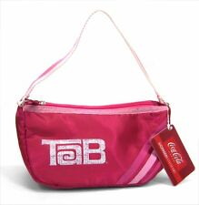 TAB SODA POP / COCA COLA - RETRO PINK LOGO STRIPES HANDBAG PURSE - NEW NWT