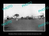 OLD LARGE HISTORIC PHOTO OF MEEKATHARRA WESTERN AUSTRALIA, MAIN ST & STORES 1910