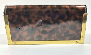 Tory Burch Brown Leopard Sunglasses Eyeglass Case Holder And Glasses Bag