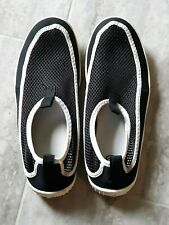 Euc ~ Athletic Works Adult Size 7-8 Unisex Water Shoes ~ Black/White ~ Huge Sale