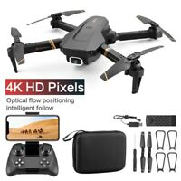 New WIFI FPV Drone FPV 4K Dual Wide Angle Camera Foldable RC Drone Free Shipping