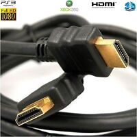 HDMI 1080P Full HD v1.4 Lead PREMIUM GOLD 1.4v Cable Male to Male UK Seller