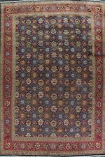 All-Over Floral NAVY BLUE/RED 9x12 Tebriz Area Rug Hand-Knotted Traditional 9x12