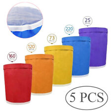More details for 5x filtration 5 gallon bubble ice bag wine jam herbal essence extractor bags set