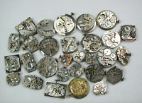 29 Swiss mechanical ladies' & men's wrist watch movements Parts Bulova Gruens +