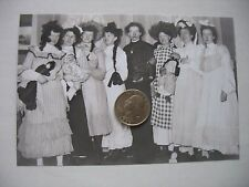 """Victorian 5"""" x 7"""" Glass Plate Negative Baby shower Ladies w dolls Pregnant woman"""