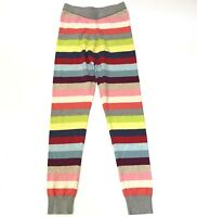 Gap Kids Sweater Leggings Girls Large 10 Crazy Striped Holiday Rainbow Pants L