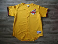 Majestic Cleveland Indians Jersey Yellow Alternate? BP? Size XL (50)