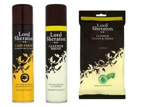 Lord Sheraton Leather Shine Wipes Caretaker Polish Spray