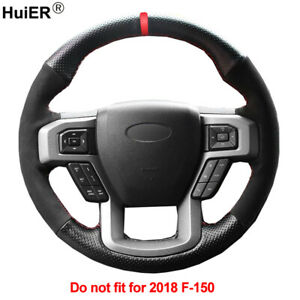 DIY Car Steering Wheel Cover For Ford F-150 2015 2016 2017 King Ranch Lariat