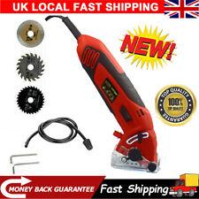 HOT!Electric 400W Mini Circular Saw Handheld Tool Wood Tile Metal 3 Blades Guide