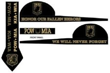 Pow Mia Kia Wia Black Bronze Doo Rag Head Wrap Skull Cap Durag Biker Sweatband
