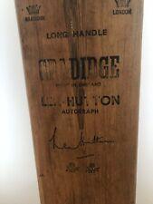 Vintage GRADIDGE LEN HUTTON Autograph Cricket Bat