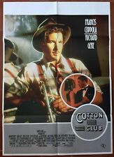 Affiche Belge COTTON CLUB Francis Ford Coppola RICHARD GERE Jazz *