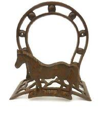 Colgador o soporte para manguera de hierro, modelo herradura de caballo