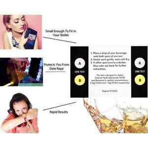 Test My Drink Or Beverage. Test GHB and Ketamine. 10 Strips - 20 Tests.