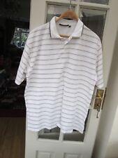 10f0a2e7c6e7c8 Mens GLENMUIR white striped t shirt size M PIT TO PIT 23 1 2