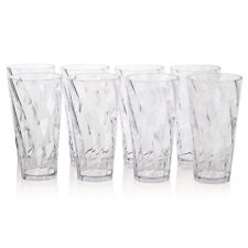 Clear Tumbler Drinking Glass Ice Tea Juice Water Cup 8pk Clear Acrylic Plastic