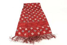 New listing Vintage 40s 50s Satin Ghost Print Opera Scarf Scarves Mens Made In Usa