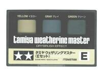 Tamiya Weathering Master Effect Set E Powders Models Yellow/Gray/Green 87098