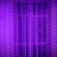 Curtain Lights 10x6.5Ft 320 LEDs Window Light 8 Flashing Modes by Remote Control