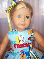 "BE A FRIEND CHARLEY BROWN OUTFIT DRESS BARRETTE MADE FOR 18"" AMERICAN GIRL"