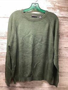 Statements - Crew Neck Sweater - Green - Mens Size XL