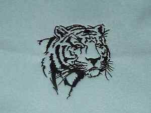 Personalized Embroidery Baby Fleece Blanket with a Tiger