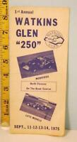 1975 1st Annual Watkins Glen 250 Modified Sportsman Auto Race Brochure