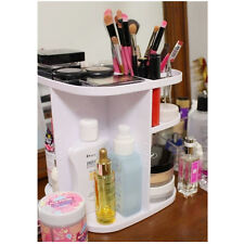 360 Rotation Makeup Cosmetics Organizer Stand Table Beauty Saloon Make Up white