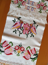Vintage Hungarian Linen Kitchen Tea Towel Bath Towel Wall Hanging Embroidery