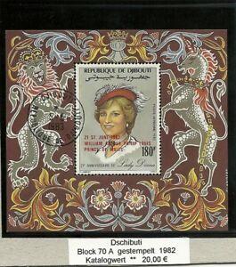 0677/ Dschibuti Block 70 A gestempelt Lady Diana