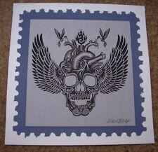 """EMEK Handbill Silkscreen Print Black HEART CALAVERA 5 X5"""" Signed like poster art"""