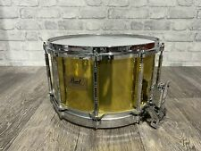 """Pearl Free Floating System Brass Shell Snare Drum 14""""x8"""" / 80's #SN099"""