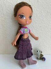 Girlz Girl Bratz Kidz Kid Yasmin Doll 7 in Brown Hair & Eyes Clothes Boots Pet