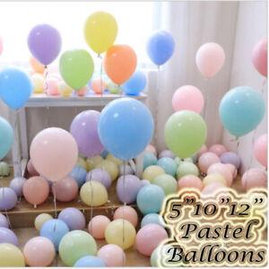 Macaron Pastel Balloons Rainbow Ballons Birthday Baby shower Party Decoration UK