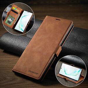 Leather Flip Case For Samsung Galaxy Note9 10Plus 20 Ultra Magnetic Wallet Cover