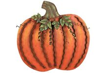 Metal Flat Swirled Free Standing Pumpkin Decor Fall Harvest Thanksgiving Decor