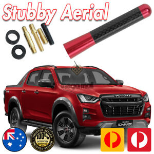 RED ANTENNA / AERIAL STUBBY BEE STING For Isuzu D-Max Dmax MUX MU-X 12-18 7CM