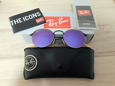 Ray-Ban Round *Defect* Bronze Frame Violet Mirror Lens Sunglasses RB3447 167/1M