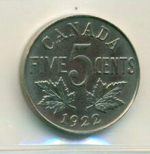 ICCS Canada 1922 5 cents SP-64 XDK 912